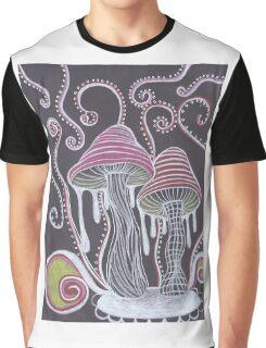 Trippy Mushroom Graphic T-Shirt
