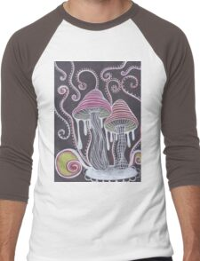 Trippy Mushroom Men's Baseball ¾ T-Shirt