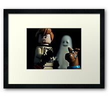 We Are Scared of Ghosts Framed Print
