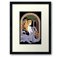 Art Nouveau Woman in Lavender Cutout Framed Print