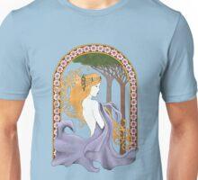 Art Nouveau Woman in Lavender Cutout Unisex T-Shirt