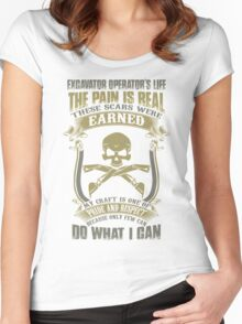 Excavator Women's Fitted Scoop T-Shirt