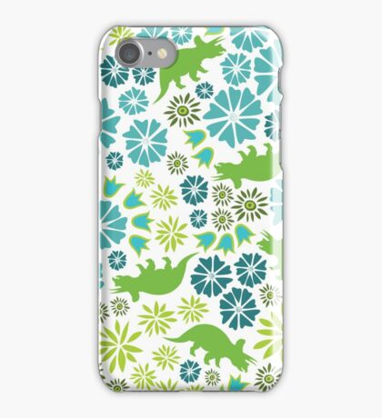 Floral Dinosaur iPhone Case/Skin
