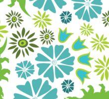 Floral Dinosaur Sticker