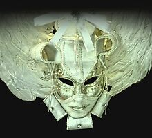 Venetian mask white by Luisa Fumi