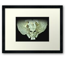 Venetian mask white Framed Print