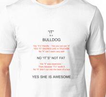 Bulldog owners answers. Unisex T-Shirt