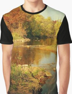 Fall Time at Rum River Graphic T-Shirt