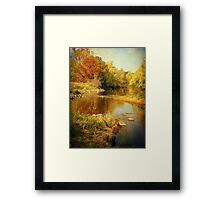 Fall Time at Rum River Framed Print
