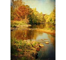 Fall Time at Rum River Photographic Print