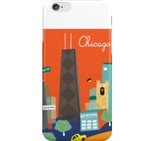 Chicago Michigan Ave - Skyline Illustration by Loose Petals iPhone Case/Skin