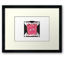Run, Cube Animals Framed Print