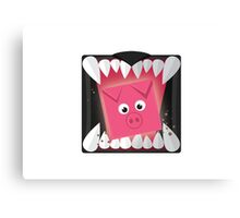 Run, Cube Animals Canvas Print