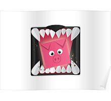 Run, Cube Animals Poster