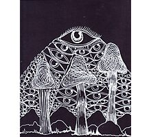 Trippy Eye Mushrooms Photographic Print