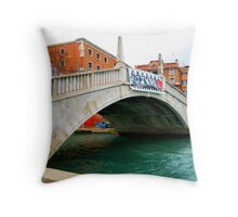 Beautiful venice monument in old style. Throw Pillow