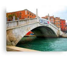 Beautiful venice monument in old style. Metal Print