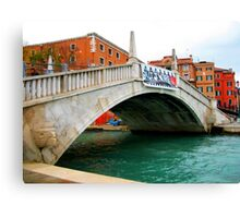Beautiful venice monument in old style. Canvas Print