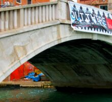 Beautiful venice monument in old style. Sticker