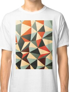 Modern Abstract Triangle Pattern Classic T-Shirt
