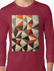 Modern Abstract Triangle Pattern Long Sleeve T-Shirt