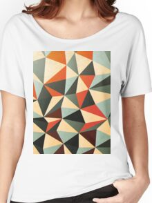 Modern Abstract Triangle Pattern Women's Relaxed Fit T-Shirt