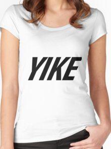 Yike, Nike parody. Women's Fitted Scoop T-Shirt