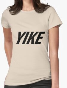 Yike, Nike parody. Womens Fitted T-Shirt