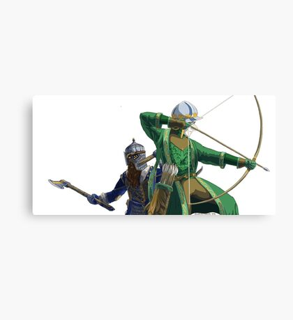 Legolas and Gimli Canvas Print