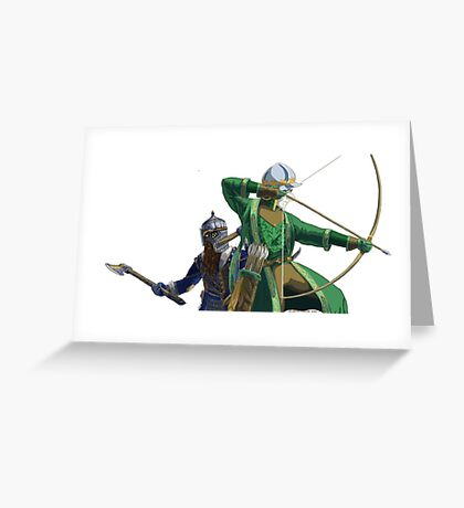 Legolas and Gimli Greeting Card