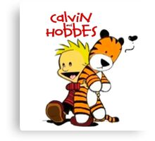 Calvin and Hobbes doll Canvas Print