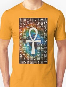 Egyptian Cross Galaxy Unisex T-Shirt