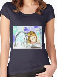 My universe in my head Women's Fitted Scoop T-Shirt