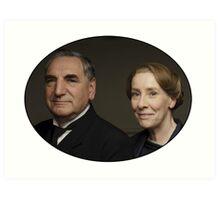 """Mr Carson e Mrs Hughes"" Downton Abbey Art Print"