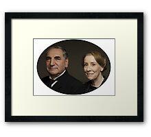 """Mr Carson e Mrs Hughes"" Downton Abbey Framed Print"