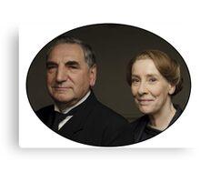 """Mr Carson e Mrs Hughes"" Downton Abbey Canvas Print"