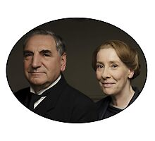 """Mr Carson e Mrs Hughes"" Downton Abbey Photographic Print"
