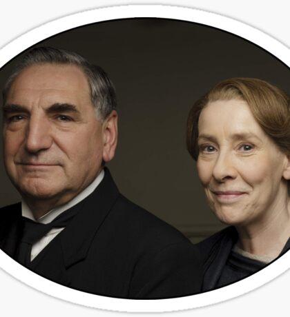 """""""Mr Carson e Mrs Hughes"""" Downton Abbey Sticker"""