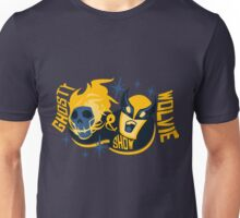 GHOSTY AND WOLVIE SHOW. Unisex T-Shirt