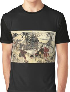 'Village Near a Bridge' by Katsushika Hokusai (Reproduction) Graphic T-Shirt
