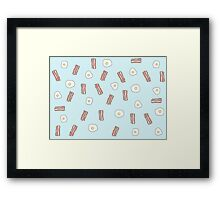 Breakfast Pattern - Bacon and eggs Framed Print