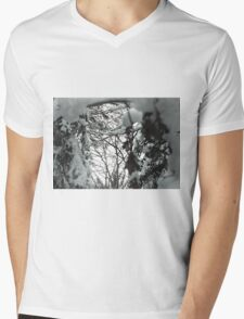 Looking Through the Snow Mens V-Neck T-Shirt