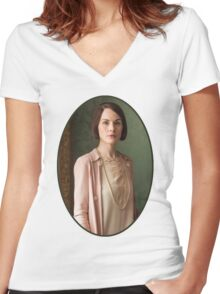 Lady Mary Crawley Women's Fitted V-Neck T-Shirt