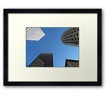 Downtown Providence by Leebabe Framed Print