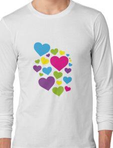 Heart Art colorful Long Sleeve T-Shirt