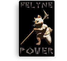 Felyne Power Canvas Print