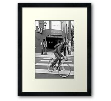 Alberta Rose Theater and Bike Framed Print