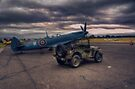 Reconnaissance Spitfire and Jeep by Nigel Bangert