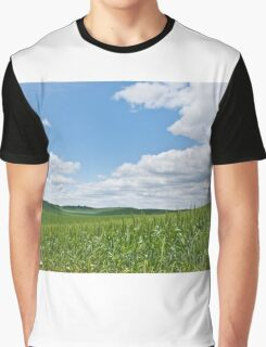 Rolling Wheatfields in the Palouse Graphic T-Shirt