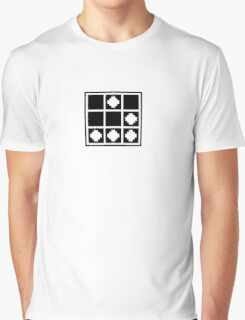 Glider - Pixelated, Black Graphic T-Shirt